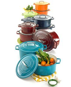 Martha Stewart Collection of cast iron casseroles in gorgeous colors