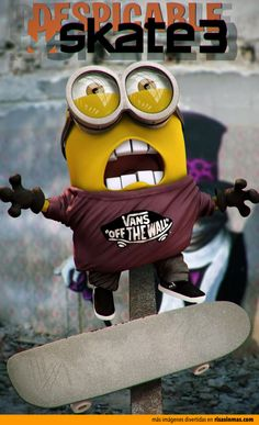 Minion Skater. Despicable Me.