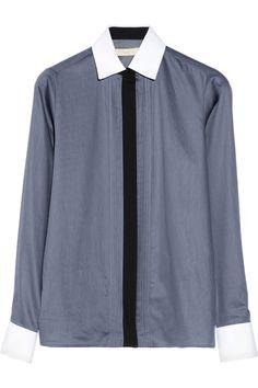 Vanessa Bruno|Cotton-poplin tuxedo shirt |NET-A-PORTER.COM
