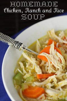 Ranch Chicken & Rice Soup