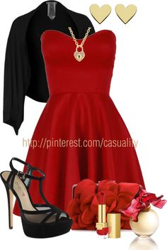 black bag, fashion, cloth, valentine day, dressi outfit, necklac, cute dressy outfits, the dress, closet