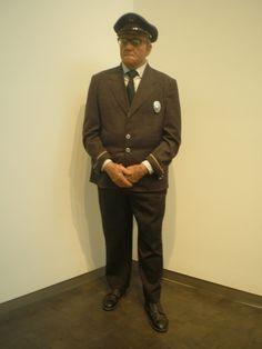 Duane Hanson 'Museum Guard' 1975, Nelson-Atkins Museum of Art, Kansas City, Missouri