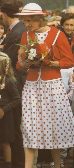 #yearofpattern red and white polka dots