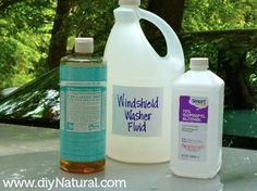 Natural Homemade car windshield washer fluid