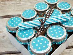 Cupcake liners on mason jars