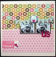 LOVE the colors and the layout (page by Elizabeth Carney).