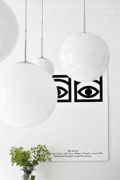 White lamps from Bauhaus