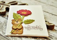 Mr. Snuggles bear & flower Cottage Cutz dies
