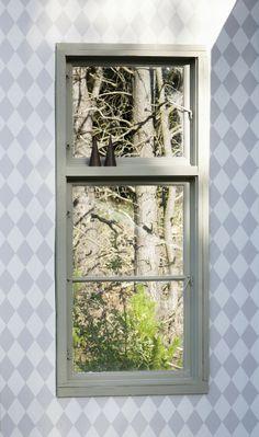 Ferm Living Harlequin Gray Wallpaper, available at #polkadotpeacock. #peacocklove #fermliving