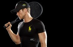 "Polo Tech Shirt, by Ralph Lauren. ""Biosensing silver fibers are woven directly into the core of the shirt."" Tracks distance, calories burned, movement intensity, heart rate, stress rate. Moisture wicking compression fabric ""increases blood circulation and muscle recovery."" Available 2015 http://www.ralphlauren.com/shop/index.jsp?categoryId=46285296"