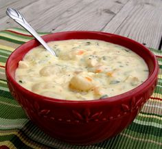Chicken Gnocchi Soup...only takes about 30 minutes to prepare  B will love this!