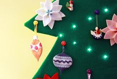 Tranquility Spot: Tutorial: Toddler Safe 2-D Felt Christmas Tree