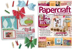 You're going to love our free Paper Bow Card Kit!   From Papercraft inspirations issue 130, in UK shops from 19th Aug 2014! :)