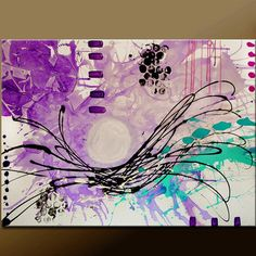 Abstract Canvas Art Painting 40x30 Contemporary by wostudios, $249.00