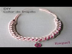 DIY Collar de Trapillo Modelo Calavera