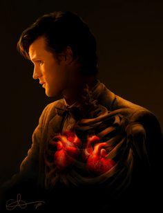geek, whovian, fan art, doctorwho, two hearts