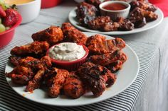 Chicken Wings, Blue Cheese Dip and a football party | Chocolate, Chocolate and more...