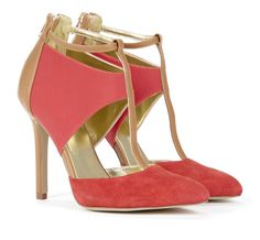 Hibiscus T Strap High Heel Sandals #shoes #women #ladies #fashion #heels #sandals