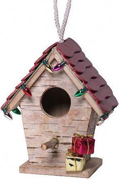 Christmas decorative birch covered bird houses. Each bird house is unique and handmade. Every piece will not be exactly like the photo shown, but the same high quality will be found in each piece. Includes one stick roof 4H X 4W X 2 1/2D, one metal roof 4 1/2H X 4W X 3D and one #decorativebirdhouses #birdhouses #buildabirdhouse #decorativebirdhouseplans
