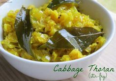 Cabbage Thoran (Stir-Fry) - My Heart Beets
