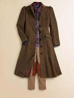 Ralph Lauren - Girl's Tweed Princess Coat
