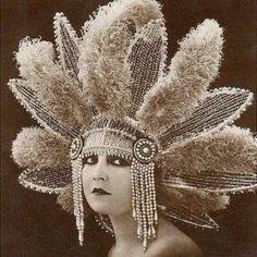 Vintage 1920s Headdress.