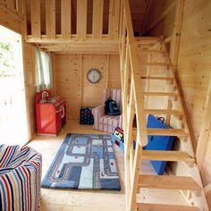 Play house ideas on pinterest cubby houses plays and for Playhouse ideas inside