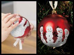 DIY Handprint Snowmen Ornament