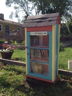 Cynthia Tow. Indianapolis, IN. Our Little Free Library is located at the front of our community garden. The space was formerly an abandoned lot where a house had burned down. We now have a beautiful space where neighbors can harvest fruits and vegetables and BOOKS!