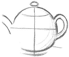 Step 02 teapots How to Draw Tea Pots with Easy Step by Step Drawing Tutorial