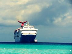 Carnival Cruise in Half Moon Cay, Bahamas