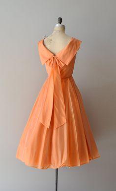 silk 1950s dress (back)