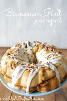 Cinnamon Roll Pull Apart recipe. perfect breakfast for a holiday or special birthday