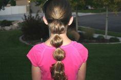 Bubble Ponytail {Princess Jasmine hair from Aladdin}