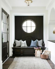 black entryway nook