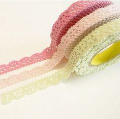 sticky lace tape - diy