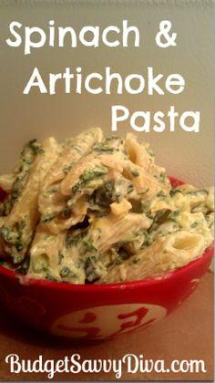 Spinach & Artichoke Pasta