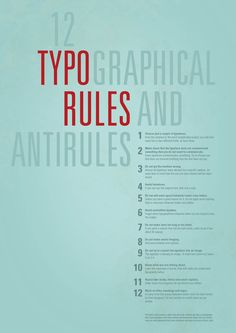 12 Typographical Rules and Antirules
