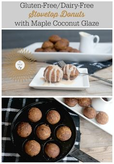 Gluten-free/Dairy-free Stovetop Donuts with Maple Coconut Glaze + Grain-Free Option!! // This House of Joy