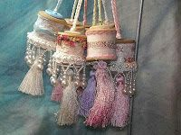 vintage shabby chic, button, christmas decorations, victorian christmas crafts, tassel