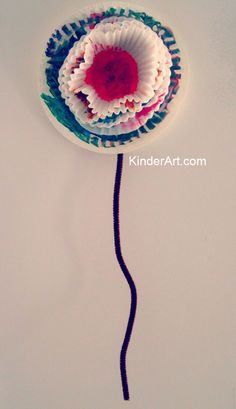 KinderArt® Blog - Art Lessons and Lesson Plans for Kids (Toddler, Preschool, Elementary and Beyond): Found object paper flowers