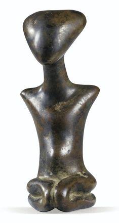"""Figurine en """"bronze"""", Kulango, Côte d'Ivoire - via Sotheby's"""