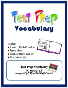 A free resource for helping your students with test prep vocabulary
