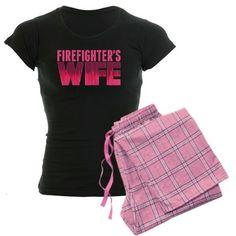 Firefighter's Wife Women's Dark Pajamas