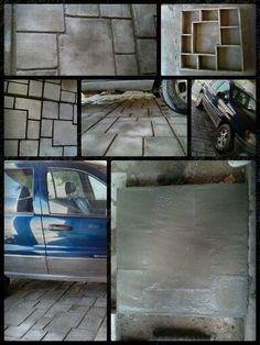 Un piso rustico, facil, elegante y economico....!!