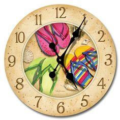 Flop Flip Wood Wall Clock