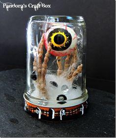 Spooky Mason Jar for Halloween