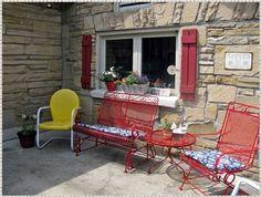 Revamping old patio furniture.