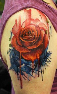 Rose tattoo on the arm. #tattoo #tattoos #Ink