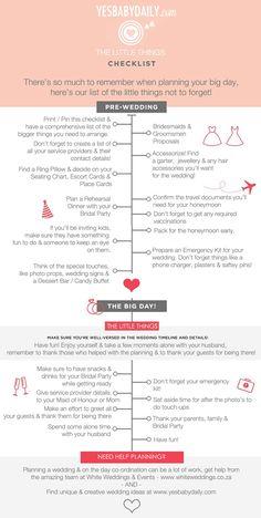 wedding detail checklist south africa